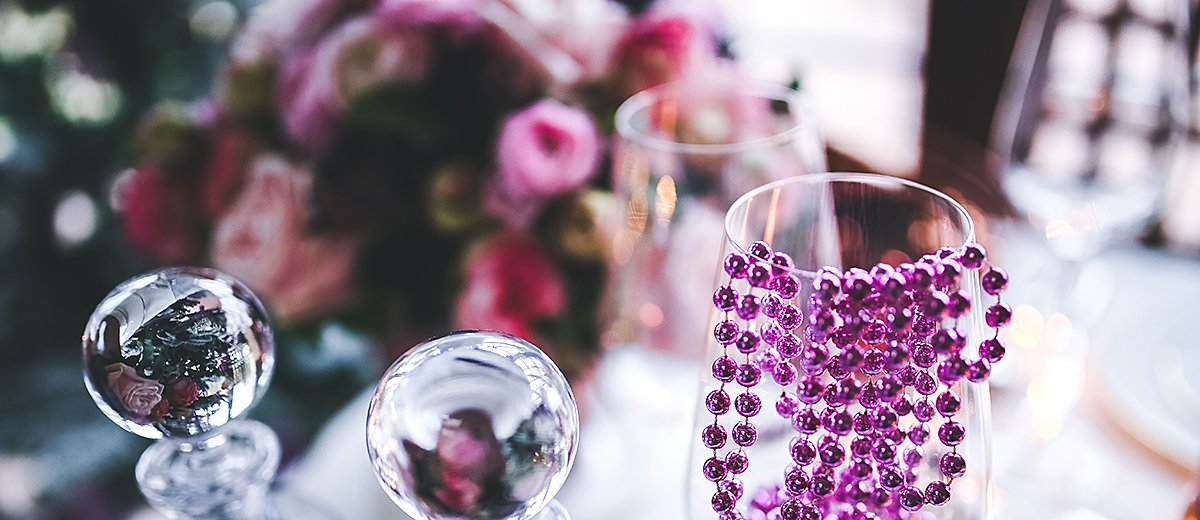 engagement party decorations glass table decor featured