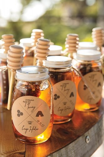 fall wedding party fall wedding favors honey favors