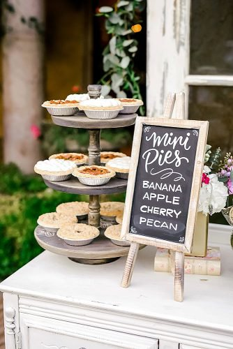 fall wedding party fall wedding menu mini pies
