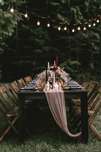 fall wedding party fall wedding reception decor