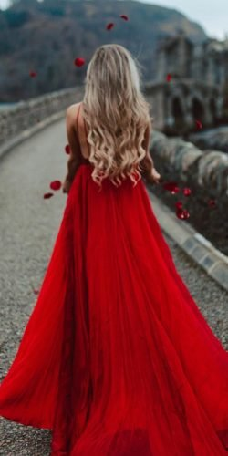 gothic wedding dresses red a line with straps tamarhopephotography