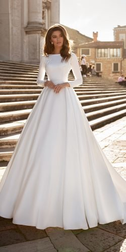 long sleeve wedding dresses simple princess modest victoria soprano