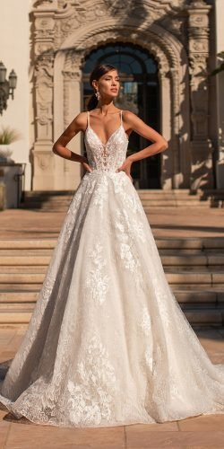 moonlight wedding dresses a line with spaghetti straps lace beach