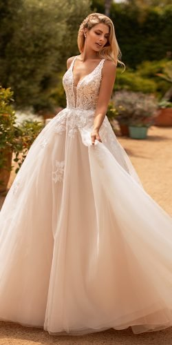 moonlight wedding dresses ball gown sweetheart neckline lace rose 2020