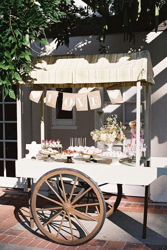 outdoor wedding ideas dessert cart