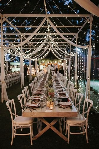 outdoor wedding ideas light strings