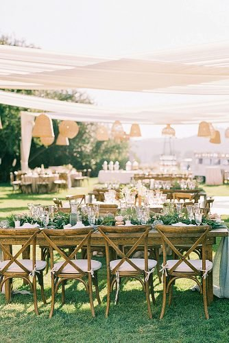 outdoor wedding ideas rattan light fixtures outdoor reception