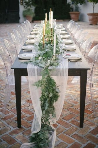 wedding ideas for summer chiffon table decor