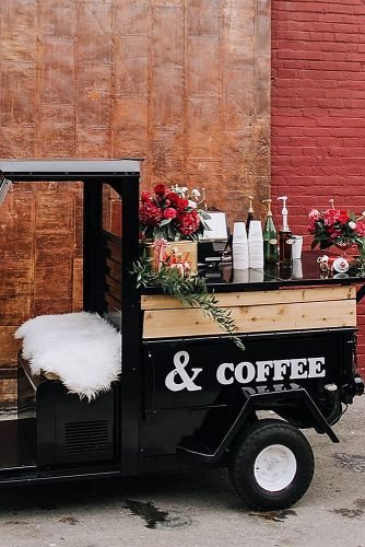 wedding-ideas for summer coffee truck for wedding reception