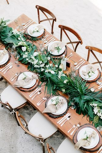wedding ideas for summer greenery table runner
