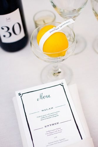 wedding ideas for summer lemon centerpiece