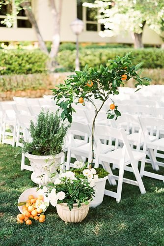 wedding ideas for summer orange tree decor