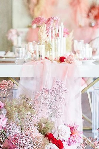 wedding ideas for summer pink wedding reception table decor