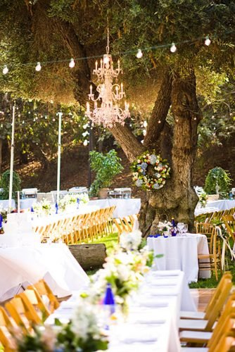 wedding ideas for summer string lights wedding reception