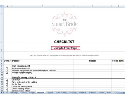 Best Wedding Planning Spreadsheet Ideas Wedding Forward