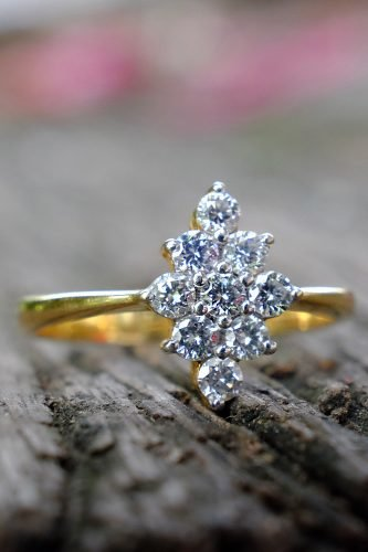 wedding trends vintage ring with diamonds