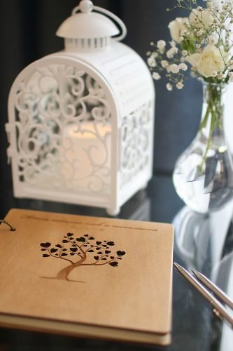 wedding trends white lantern on the table