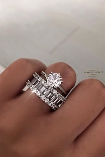 cheap engagement rings silver wedding set