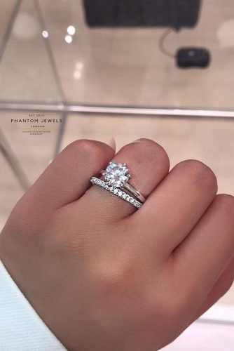 cheap engagement rings simple wedding set
