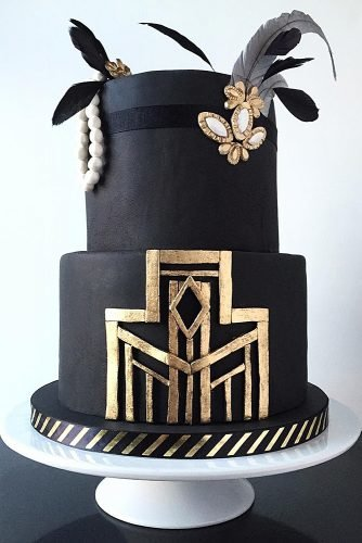 engagement party cakes art deco cake