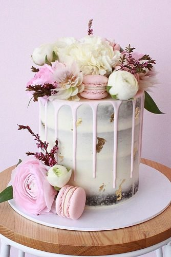 engagement party cakes white pink cake with decor