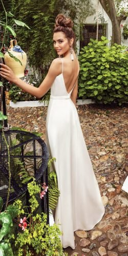 rustic wedding dresses simple with spaghetti straps backless beach kookla