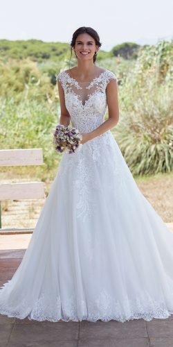 tattoo effect wedding dresses a line illusion neckline lace victoria jane