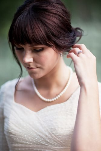 24 Charming Wedding Hairstyles With Bangs | Wedding Forward