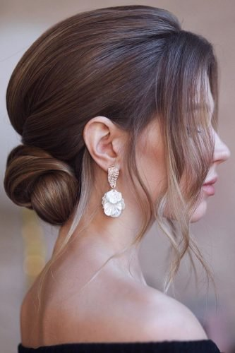 wedding updos smooth low updo with facre framing curls hair_vera