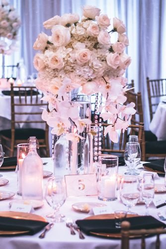 average cost of wedding venues roses centerpiece on top of table