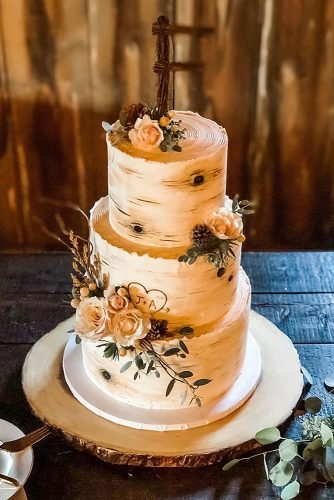 fall wedding cakes naked country rustic cake