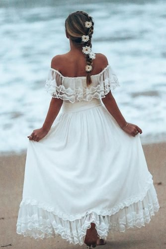 flower girl dresses bohemian off the shoulder country teaprincessaust