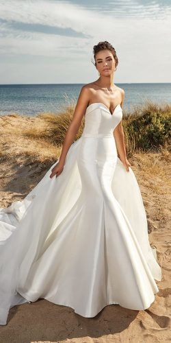 mermaid wedding dresses simple strapless sweetheart neckline eddy k