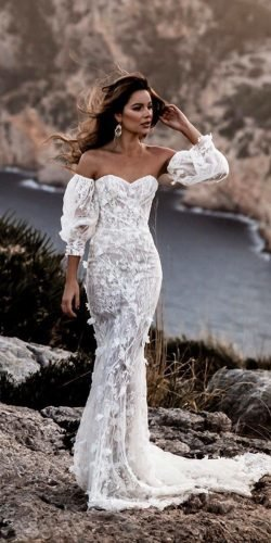 mermaid wedding dresses sweetheart strapless neckline beach galia lahav