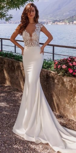 sexy wedding dresses ideas trumpet lace top beach vierobridal