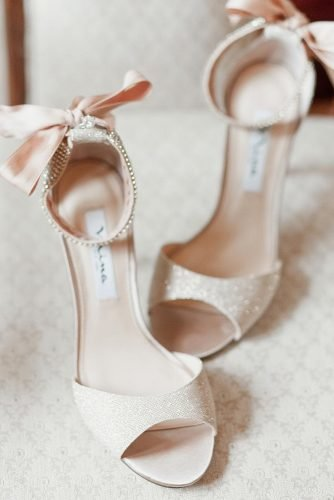 wedding shoes sparkle with heels ivory ninashoes