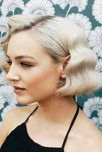 wedding updos for short hair bob finger waves thefoxandthehair