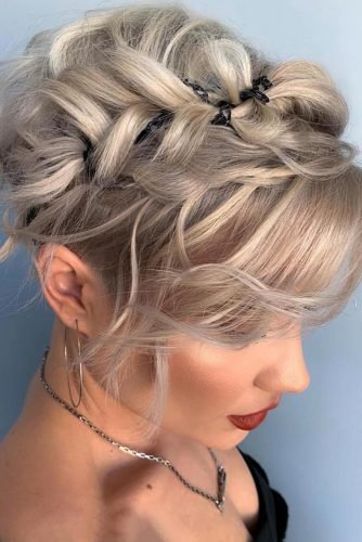 wedding updos for short hair braided pixie updo shorthair_love