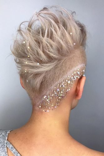wedding updos for short hair glitter pixie stephanysmithhair