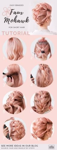 wedding updos for short hair tutorial