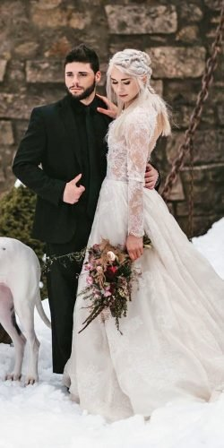 winter wedding dresses outfits a line with long sleeves lace codyjamesbarry