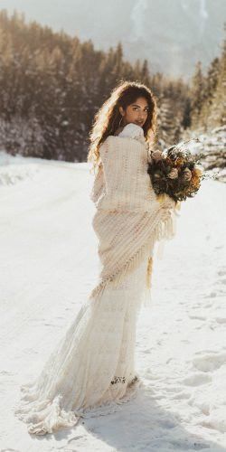 winter wedding dresses outfits sheath with cozy train boho daughters of simone