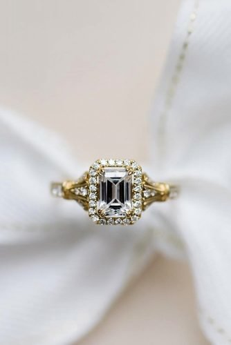 kirk kara engagement rings yellow gold engagement rings emerald cut diamond engagement rings halo engagement rings best rings kirkkara