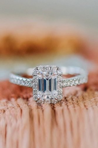 kirk kara engagement rings white gold engagement rings emerald cut diamond engagement rings halo engagement rings best rings kirkkara