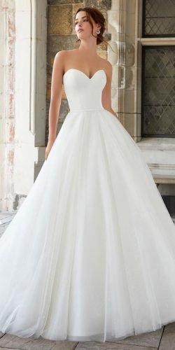 a line wedding dresses simple sweetheart strapless neckline mori lee