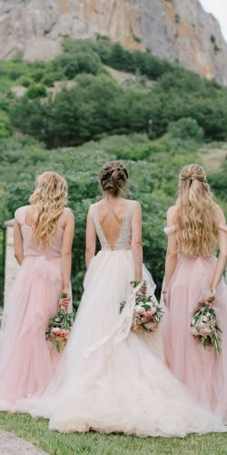 blush bridesmaid dresses coutry simple rustic alexandersanti