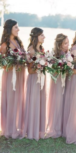 blush bridesmaid dresses long simple rustic charleston