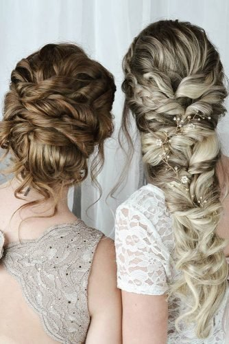 bridesmaid hairstyles bohemian slightly messy updo and braid for long hair jennesahair