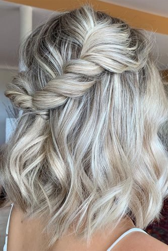 bridesmaid hairstyles half up on short hair jodycallanhair
