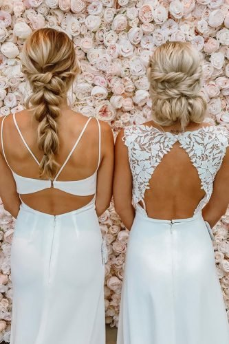 bridesmaid hairstyles simple elegant on blonde hair kaylaannehair